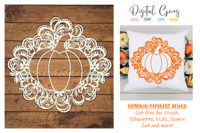 Pumpkin papercut design