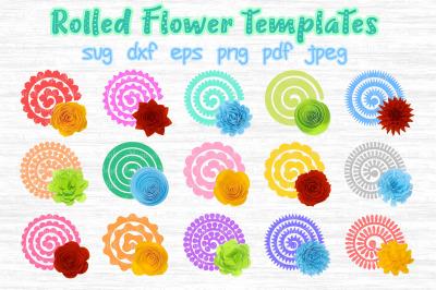 Rolled Flower svg, 3d flower svg, Rolled Paper Flower