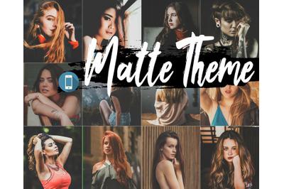 Neo Matte Theme mobile lightroom presets