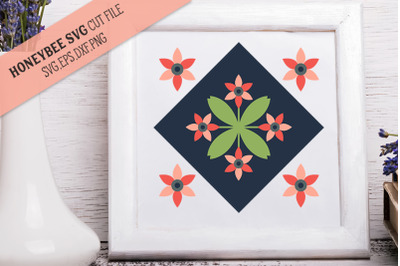 Blooming Blossom Barn Quilt SVG Cut File