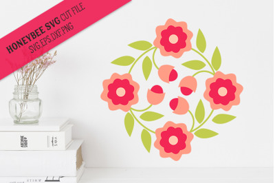 May Flowers Barn Quilt SVG Cut File