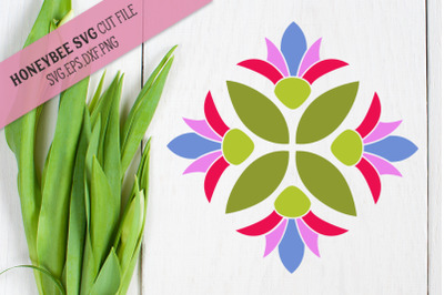 Spring Bloom Barn Quilt SVG Cut File