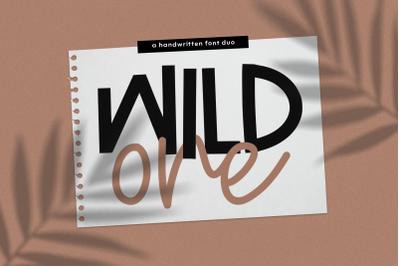 Wild One - Handwritten Print/Script Font Duo