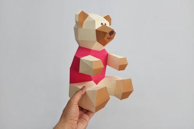 DIY TEddy Bear- 3d papercraft