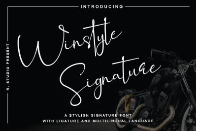 Winstyle Signature - Stylish Signature Font
