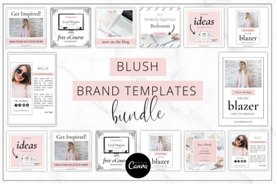 Canva Blush Brand Templates Bundle