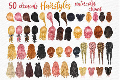 Hairstyles clipart Custom hairstyles Long hair Planner Girls