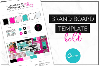 Canva Bold Brand Board Template