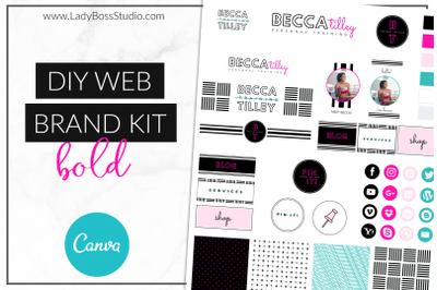 Canva Bold Web Branding Kit