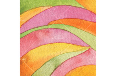 Abstract rainbow acrylic and watercolor painted background. Texture pa
