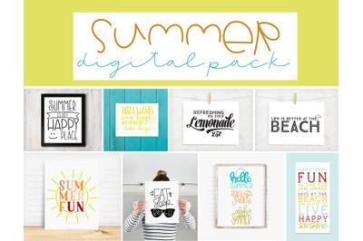Summer Fun Digital File Pack | 10 Designs