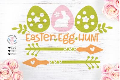 Easter Egg Hunt Sign Cut File