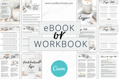 Canva eBook or Workbook Templates