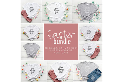 Easter Tee BUNDLE 10 Bella Canvas 3001 Unisex Mock Up/Flat Lays