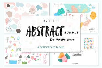 Artistic Abstract Bundle - 4 in 1