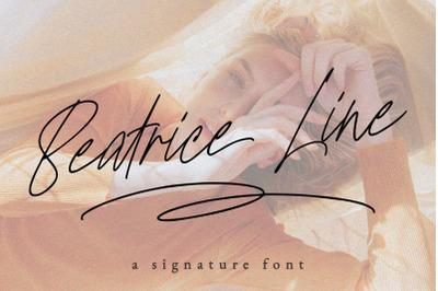 Beatriceline Monoline Font