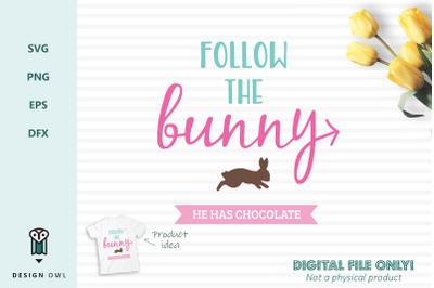 Follow the bunny - SVG file