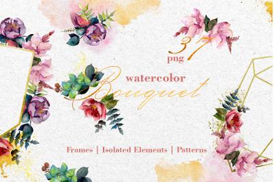 Bouquet Exuisite Watercolor png