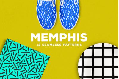 Memphis Seamless Patterns