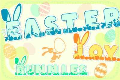 Easter Joy Bunnies: A Lovely Craft Font
