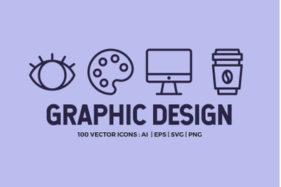 100 Graphic Design | Line Icons