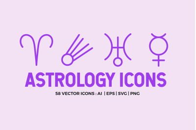 Astrology Symbols | Line Icon Pack