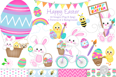 Easter clipart, easter graphics and illustrations - C33