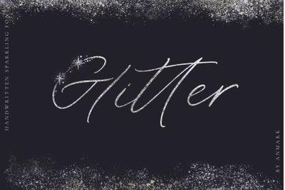 Glitter. Handwritten Font