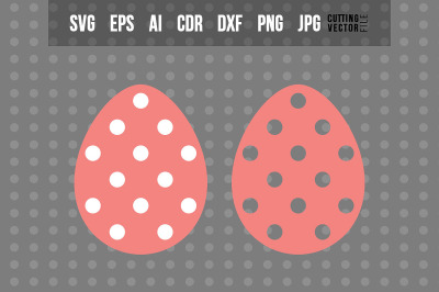 Easter Egg with Polka-Dot Decoration