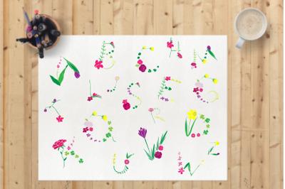 Floral Alphabet - DB007