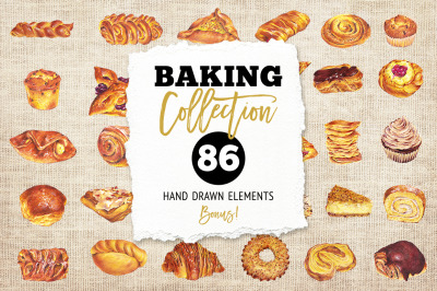 Hand Drawn Baking Collection