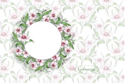 Floral simple set for design