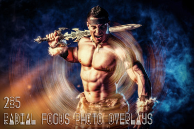 285 Radial Focus Photo Overlays