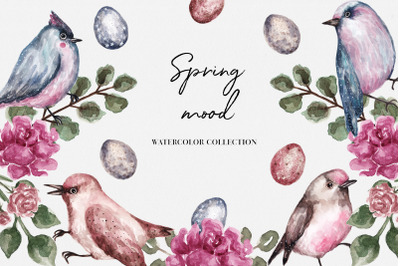 Spring Mood Watercolor Collection