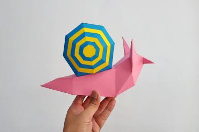 DIY Snail - 3d papercraft