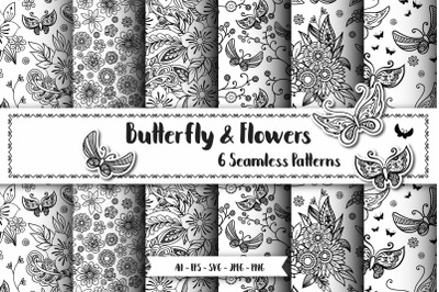 Butterfly Seamless Patterns