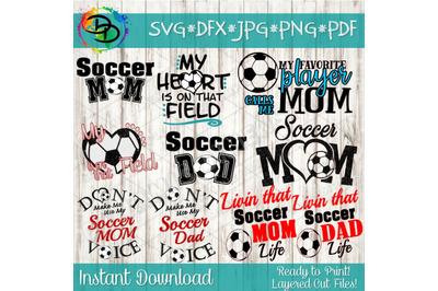 Soccer svg bundle, Soccer Mom SVG, Soccer Dad svg, my heart is on that