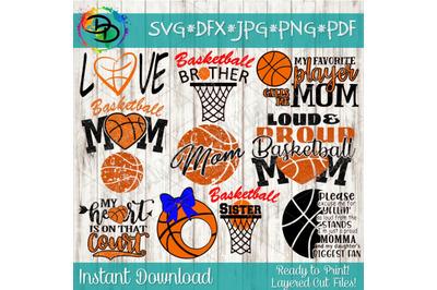 Basketball SVG, Basketball Bundle, My Heart is on that court Svg Baske