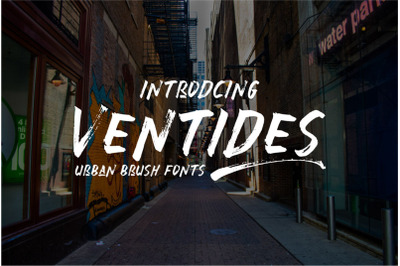 Ventides Urban Brush Font