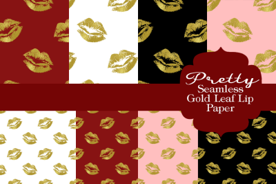 Pretty Lips Patterned Paper