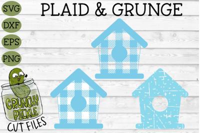 Plaid & Grunge Birdhouse SVG