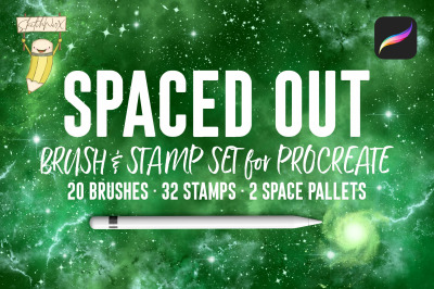 Spaced Out Brush & Stamp Set - For Procreate