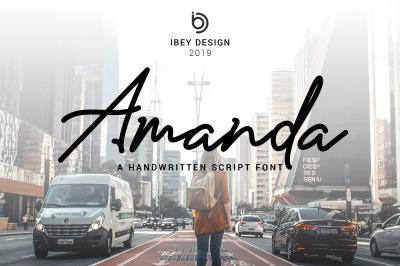 Amanda - Signature Monoline Font