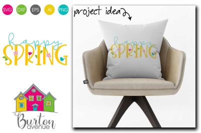Happy Spring SVG File