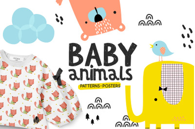 Baby animals - Cute characters