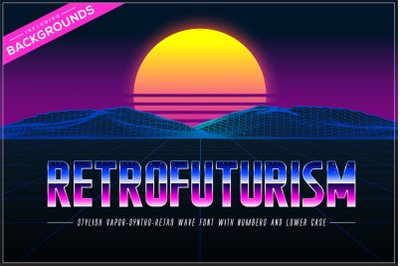 Retrofuturism OTF Vaporwave Font