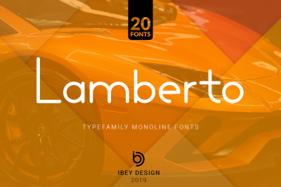 Lamberto - 20 Monoline Fonts