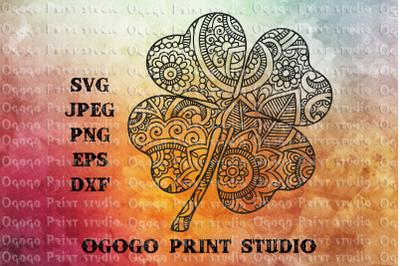 Shamrock svg, Zentangle SVG, St Patricks day svg, Mandala svg