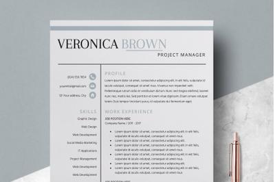Resume Template / CV Template - Veronica