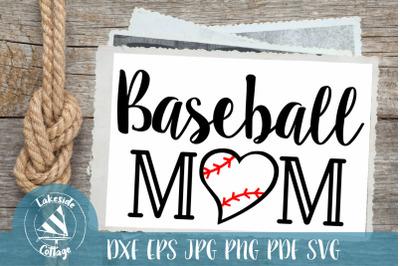 Baseball Mom Sports SVG Design